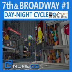 NYC 7th Avenue Broadway Set 1 3D Model