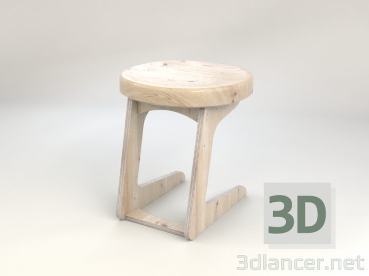 3D-Model  Stool