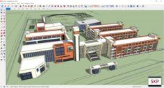 Sketchup College building B5 3D Model