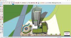 Sketchup hotel complex G9 3D Model