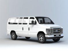 F-ord Minibus 3D Model