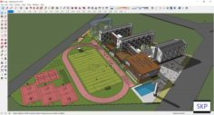 Sketchup school K1 3D Model