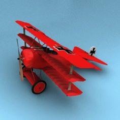 Fokker DR1 Triplane Red Baron 3D Model