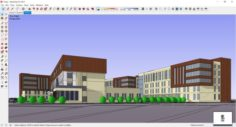 Sketchup office building J1 3D Model
