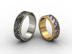 Wedding rings 3D-N – 005 3D Model