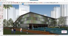 Sketchup Cultural center F6 3D Model