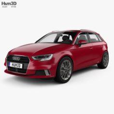 Audi A3 Sportback 2016 3D Model