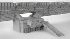 Sci-fi Wall 1 3D Model