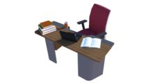 Chehoud Office Desk Model 15 3D Model