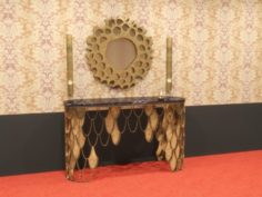Clasic table with miror consull 3D Model
