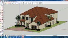 Villa sketchup – 4 3D Model