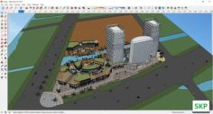 Sketchup Commercial and office complex E2 3D Model