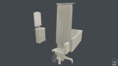 Bathroom furniture and stuff 3D Model