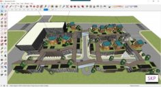 Sketchup Commercial and office complex C1 3D Model