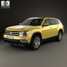 Volkswagen Atlas SEL 2018 3D Model