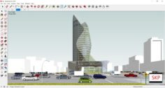 Sketchup office building G8 3D Model
