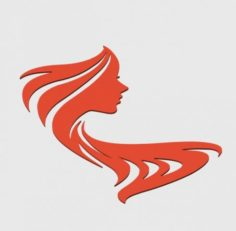 WOMAN SILHOUETTE FACE WALL DECORATION 1 3D Model