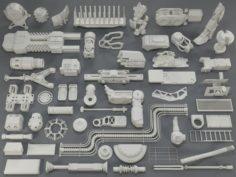 Kit bash52 pieces – collection-10 3D Model