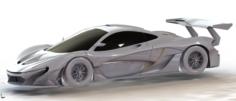MCLEAREN P1 GTR 3D Model