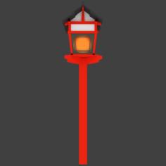 LowPoly Lantern Free 3D Model