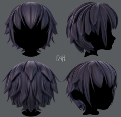 3D Hair style for boy V34 3D Model