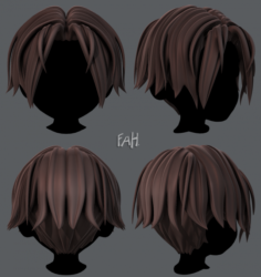 3D Hair style for boy V35 3D Model