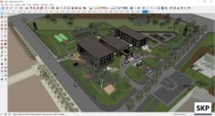 Sketchup Recreational complex C1 3D Model