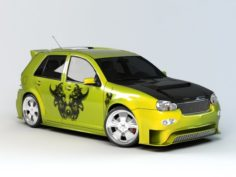 Graffiti Car 3D Model