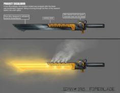 Bruning Sword Free 3D Model