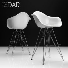 Eames DAR Bar plastic side chairs 3D Model