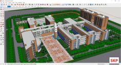 Sketchup school K6 3D Model
