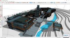 Sketchup hotel complex K7 3D Model