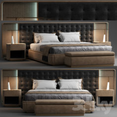 The visionnaire Ripley bed                                      3D Model