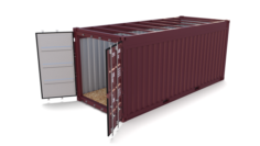20ft Shipping Container Open Top no Cover 3D Model