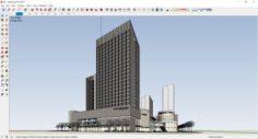Sketchup commercial complex K6 3D Model