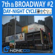 NYC 7th Avenue Broadway Set 2 3D Model