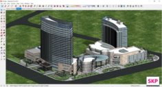 Sketchup residential complex A10 3D Model