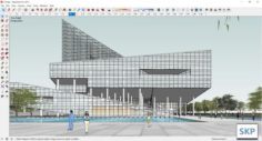 Sketchup Commercial and office complex L10 3D Model