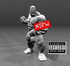 Naked Hulk 3D Model