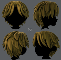 3D Hair style for boy V33 3D Model