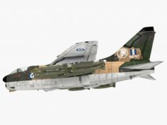 LTV A-7 Corsair II Greek scheme 3D Model