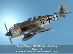 Focke Wulf – FW190 A8 – Black 12 3D Model