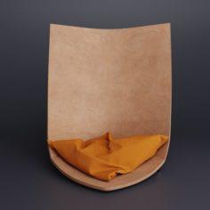 TORU Designer leather armchair Babu 3D Model