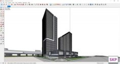 Sketchup residential complex B2 3D Model