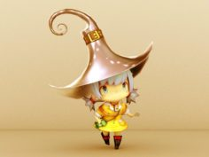 Cartoon girl witch – w1 3D Model