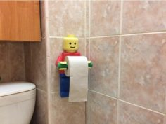 Lego Toilet Paper Holder 3D Model