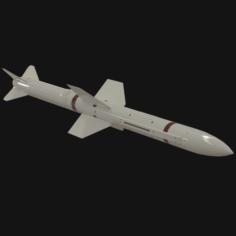Selenia Aspide missile 3D Model