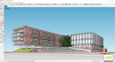 Sketchup office building H10 3D Model