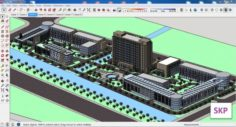 Sketchup office building G4 3D Model