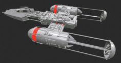 Sci-Fi spacecraft – Y-wing Assault Starfighter 3D Model